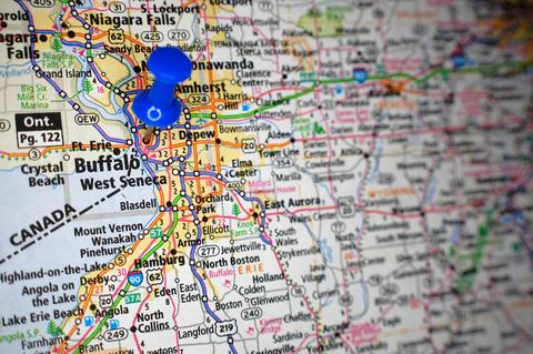 Buffalo NY City Map Dumpster Rentals